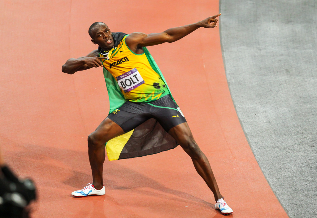 Athletics Photographer Aleš Gräf: How Usain Bolt Made Me Fall Off a Table (But Not Really) - Usain Bolt showing one of his typical poses
