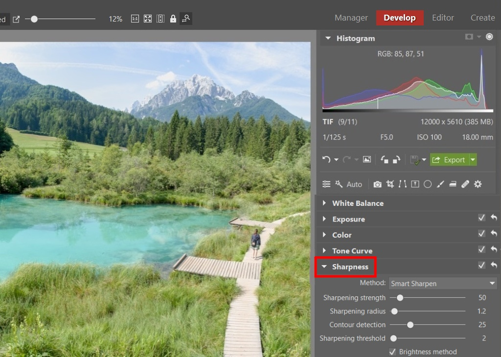 Guides for Editing Your Vacation Photos - sharpening