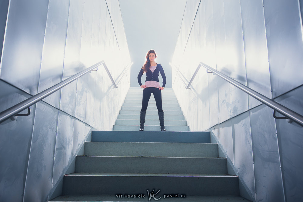 Foundations of Portrait Composition Part II - woman above staircase