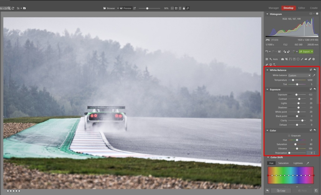 How to Edit Car Racing Photos - basic edits