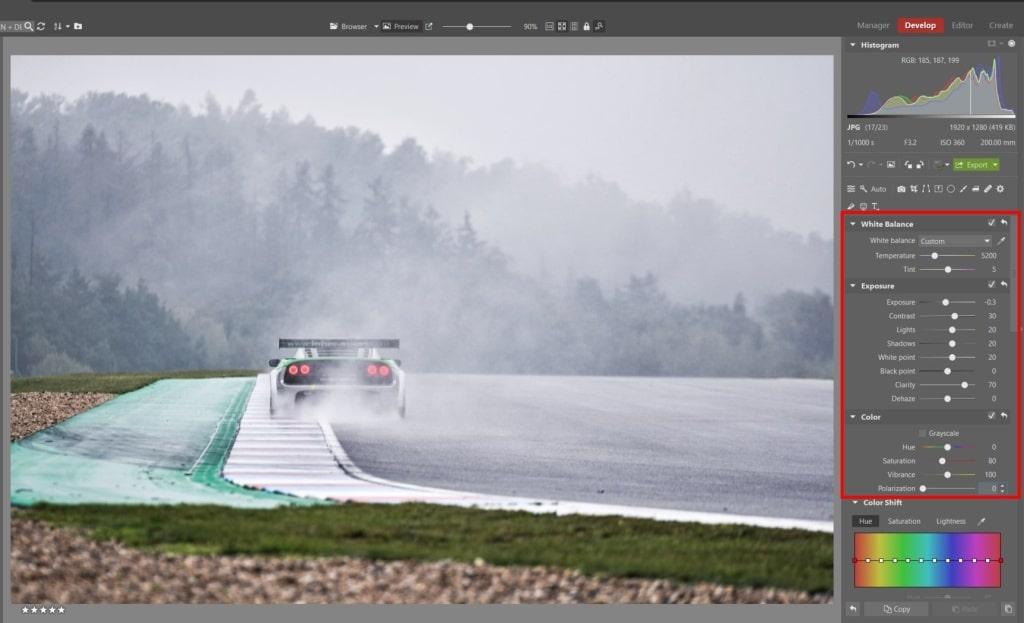 How to Edit Car Racing Photos - basic edits