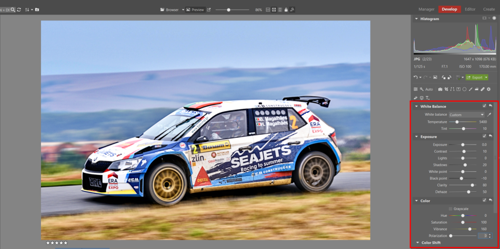 How to Edit Car Racing Photos - color editing