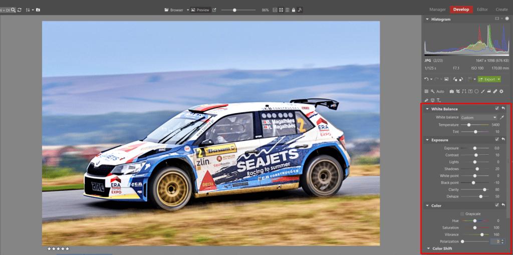 How to Edit Car Racing Photos - color editing