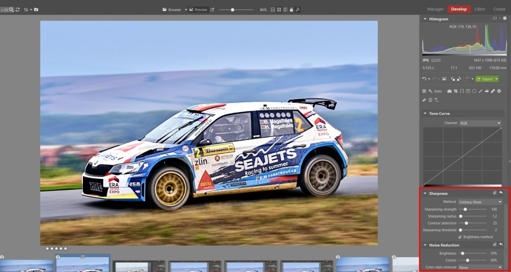 How to Edit Car Racing Photos - noise removal
