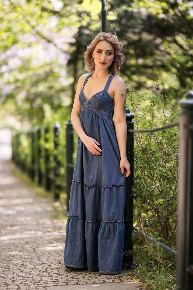 Foundations of Portrait Composition Part II - woman in blue dress