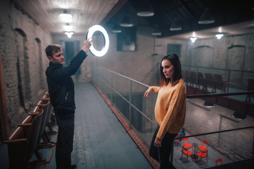 Portraits With an LED Ring Light - angle