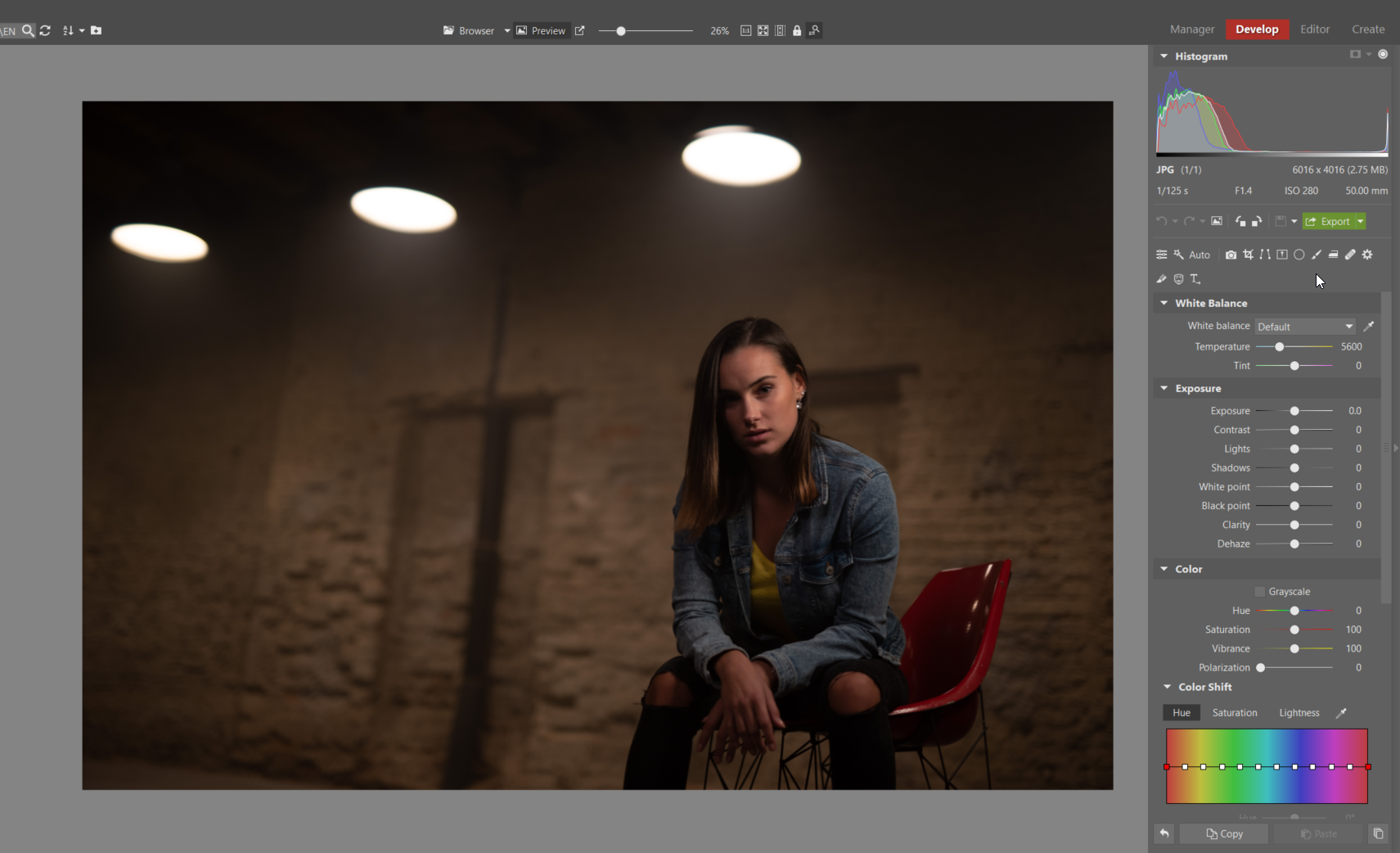 Try Editing a Nighttime Portrait - develop module