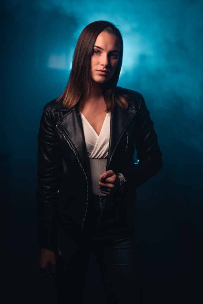 Portraits With an LED Ring Light - fog
