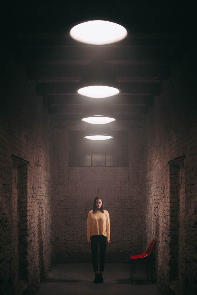 Portraits With an LED Ring Light - symmetry