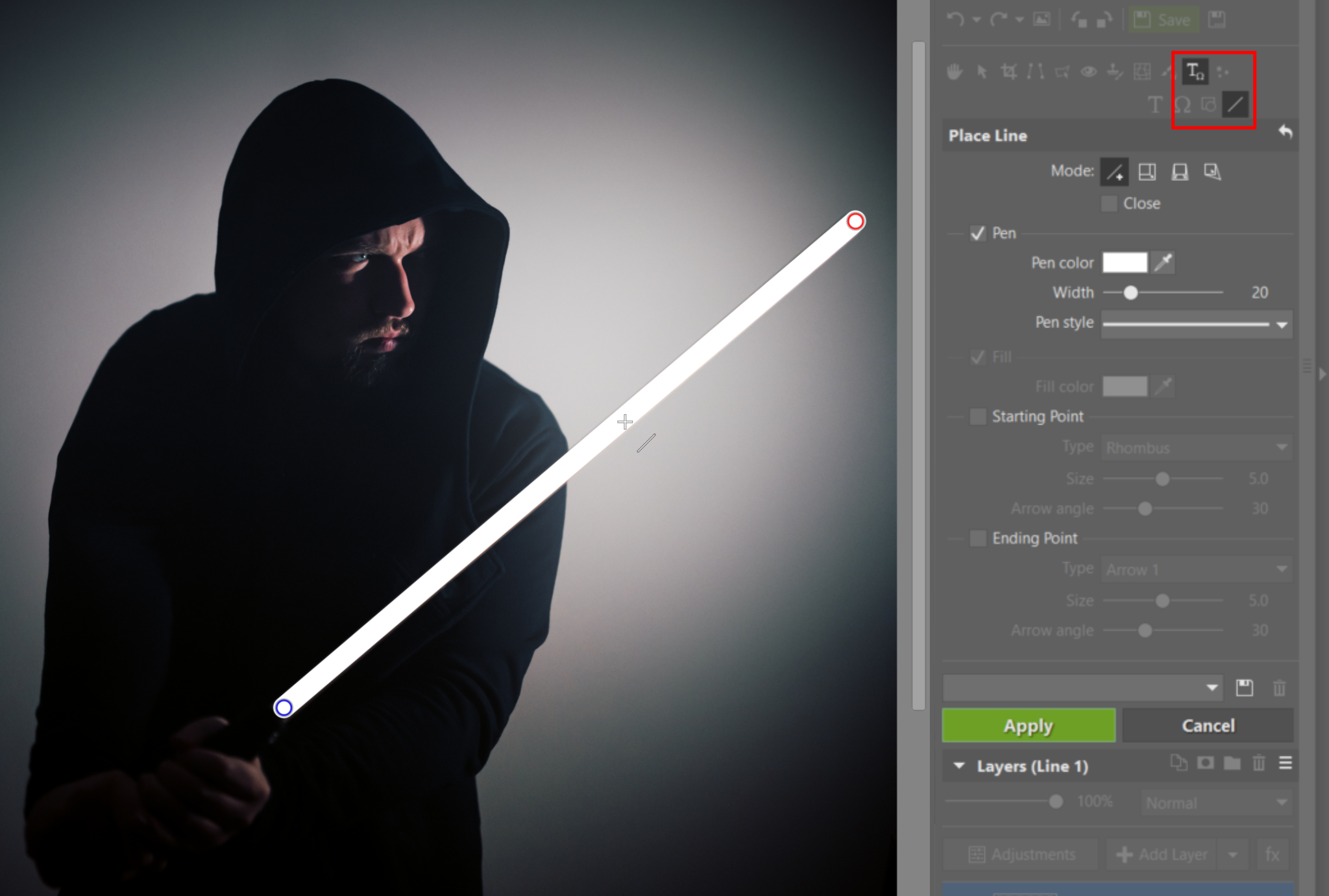 Create Your Own Lightsaber Photo - line