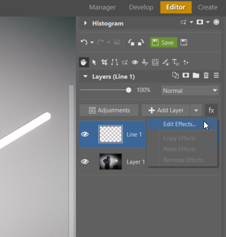 Create Your Own Lightsaber Photo - edit effects