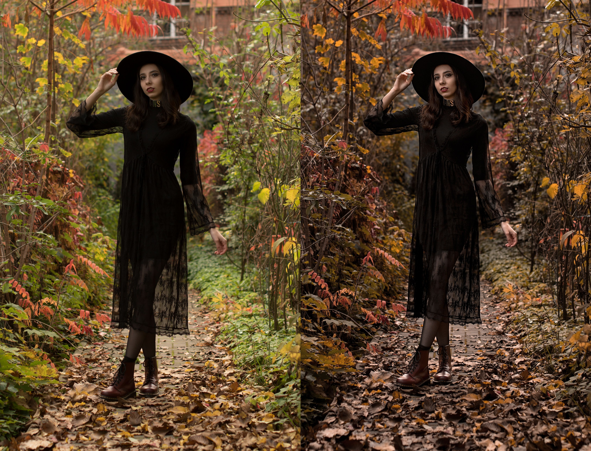 Developing an Autumn Portrait Step by Step - comparing color tones