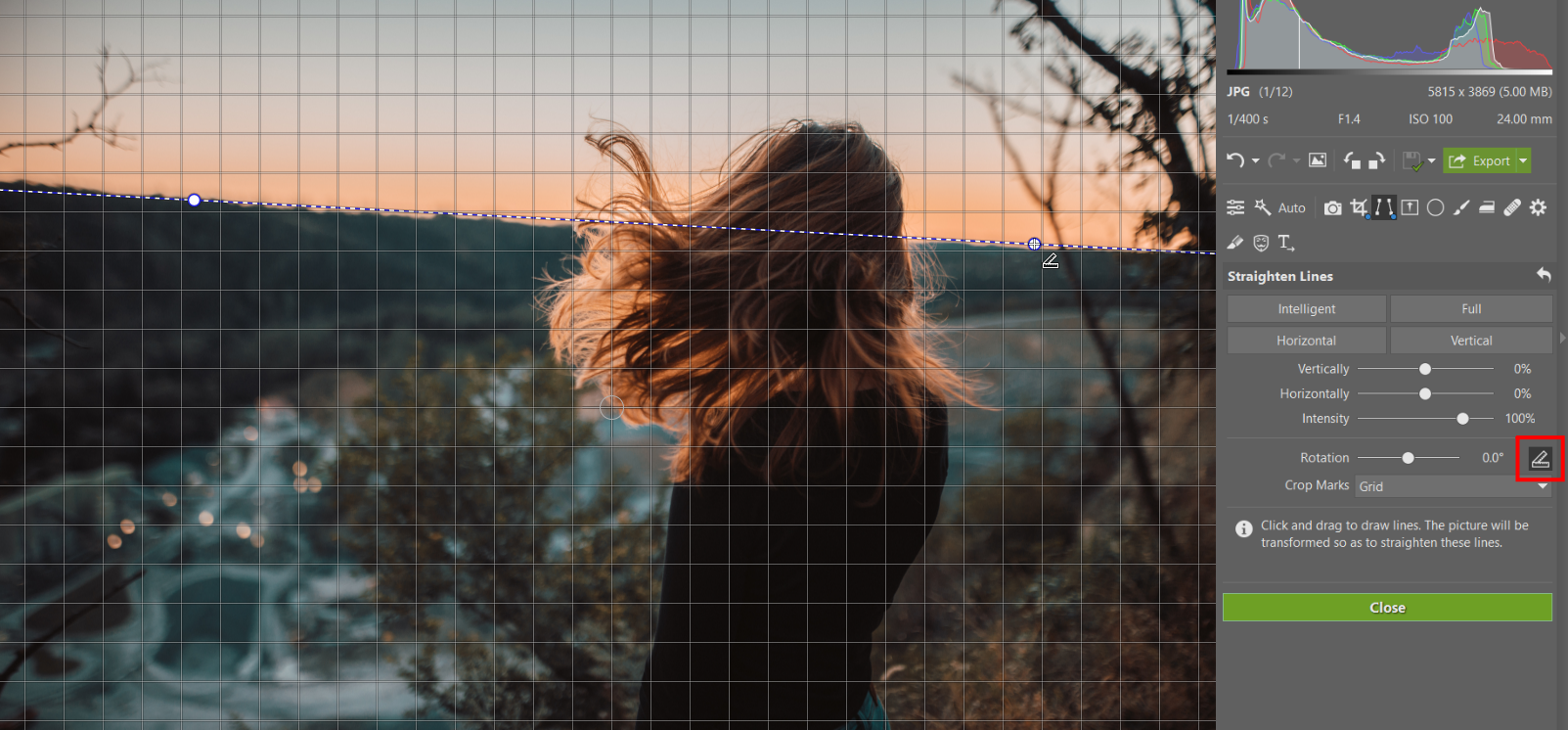 Do you have a crooked photograph? Straighten your horizon and perspective.