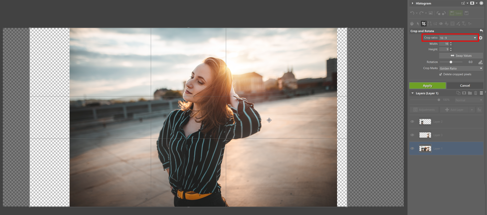Stretch Your Photos to a Wide-angle Format. You Can Do It in the Editor With No Cropping or Losses.