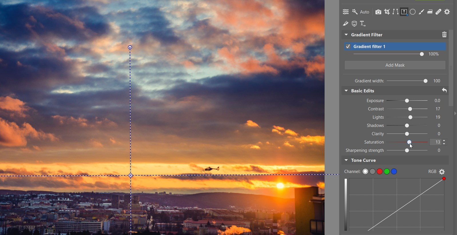 How to use the Gradient Filter when editing your photographs