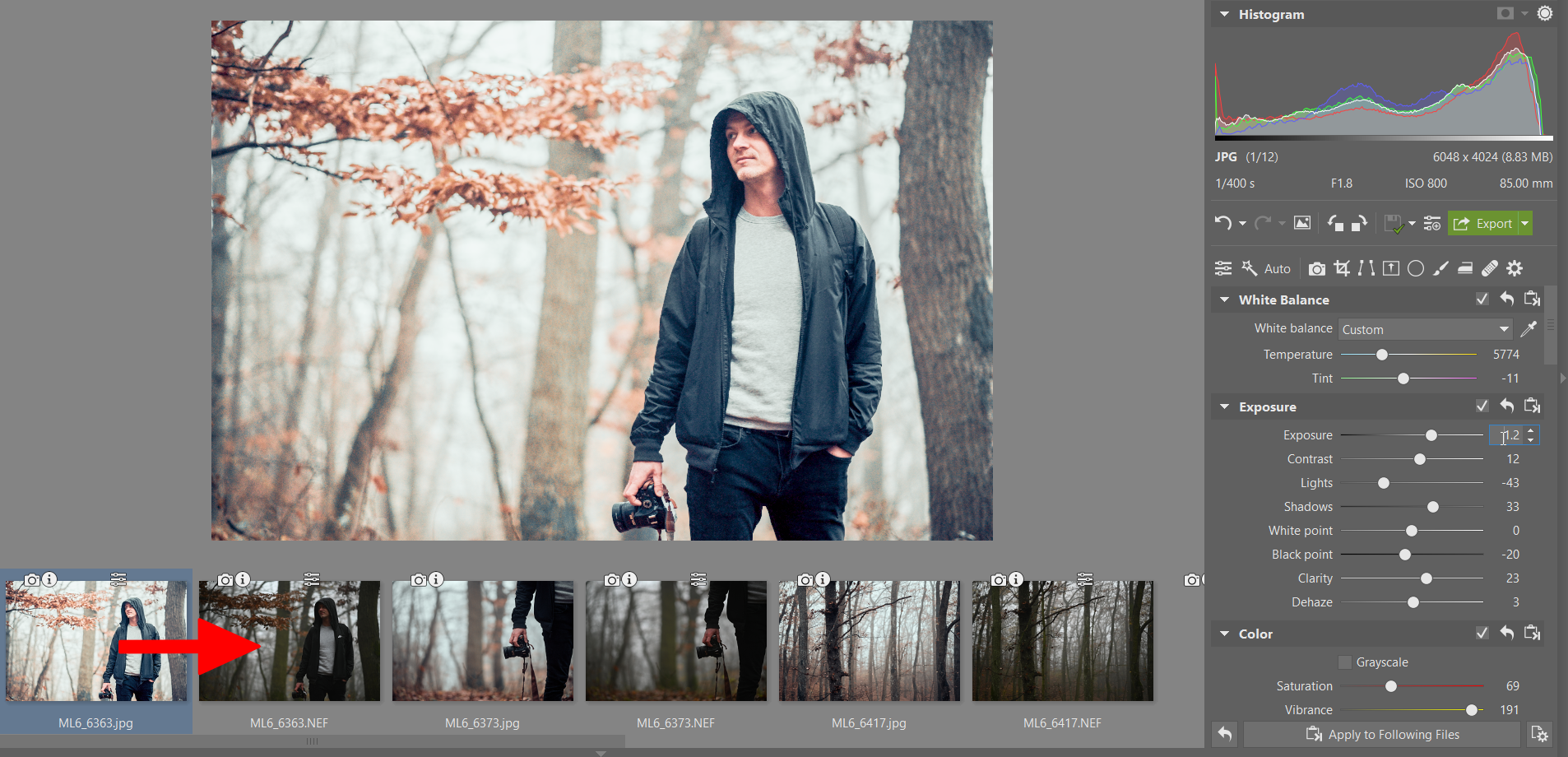 Save time editing your photos by copying edits
