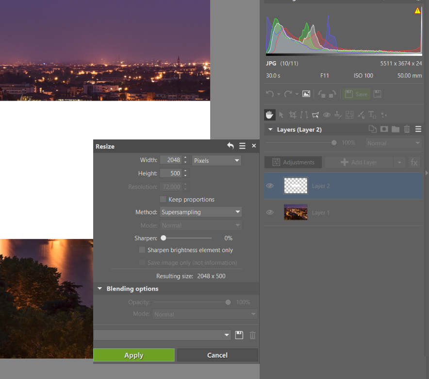 Add Transparent Text to your Photograph -Use the Editor Module and Layers