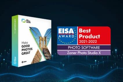 EISA recognizes Zoner Photo Studio X as the best photo editor around!